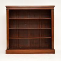 Antique Victorian Mahogany Open Bookcase (4 of 7)