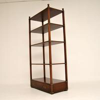 Antique Military Campaign Style Mahogany Bookcase / Cabinet (3 of 6)