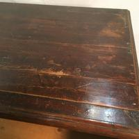 Antique Early Victorian Three Drawer Chest Stained Pine (8 of 12)