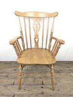 Early 20th Century Antique Beech Farmhouse Armchair (2 of 10)