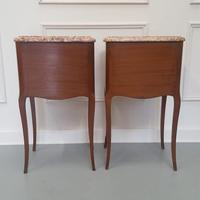 Beautiful Kingwood Bedside Cabinets with Marble Tops (3 of 7)