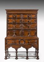 Rare William and Mary Period Solid Walnut Chest on Stand (2 of 6)