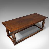 Antique Refectory Table, English, Oak, Dining, Jacobean Revival, Edwardian c.1910 (6 of 12)