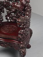 Antique Chinese Carved Hardwood Armchair (7 of 16)