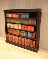 Large Victorian Open Dark Oak Bookcase (3 of 10)