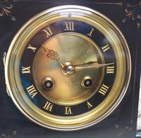Fine French Slate & Marble Mantel Clock 8 Day Striking Mantle Clock (3 of 10)