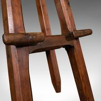 Antique Artist's Easel, English, Picture Stand, Arts & Crafts, Victorian c.1900 (11 of 12)