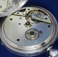 Antique Silver Pocket Watch Keyless Wind Open Face Pocket Watch Kay & Comp (8 of 10)