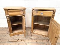 Two Similar Antique Pine Bedside Cupboards (3 of 10)