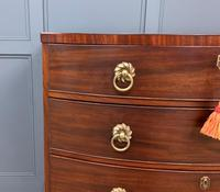 Regency Mahogany Bow Fronted Chest of Drawers (4 of 14)