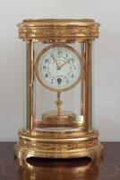 French Claude Grivolas Oval Cased 400 Day Torsion Mantle Clock c.1900 (7 of 8)