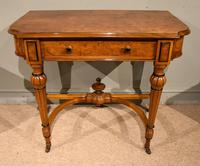 19th Century Burr Elm Console Writing Table