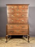 Handsome elegant 18th century oak country-house chest on chest (6 of 12)
