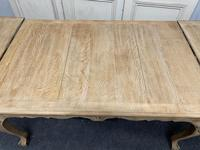 French Bleached Oak Extending Dining Table (8 of 17)