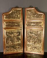 Good looking decorative pair of oriental gilded wall hangings (3 of 8)
