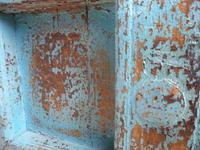 Handmade Indian Mango & Teak Large Painted Sky Blue 2 Door Storage Cupboard (10 of 13)