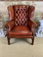 Georgian Style Leather Wingback Armchair (3 of 5)