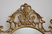 Pair of Antique French Style Brass Mirrors (5 of 12)