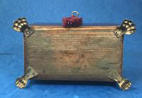 Regency Black Walnut Sarcophagus Twin Section Tea Caddy (8 of 11)