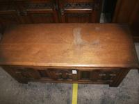 Carved Oak Lift Top Coffer (2 of 4)
