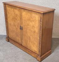 Burr Walnut Side Cabinet / Bookcase Iain James Furniture (3 of 8)