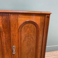 Beautifully Figured Victorian Walnut Antique Cupboard (4 of 7)