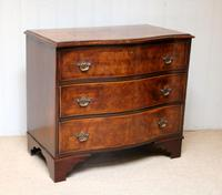 Walnut Serpentine Front Chest of Drawers (5 of 10)