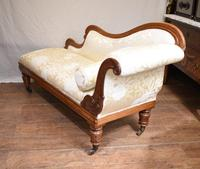 Regency Chaise Longue Sofa Walnut Lounge Day Bed (3 of 25)