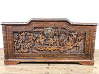 Early 20th Century Carved Camphor Trunk (7 of 14)