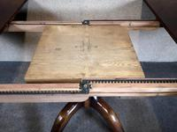 Large Reproduction Circular Oak Dining Table With Two Leaves / Seats 8 Persons (8 of 8)