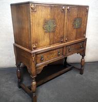 Golden Oak Cocktail Cabinet / Sideboard (2 of 8)