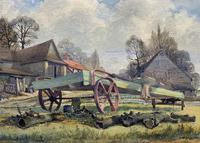 The Green Cart by R.Coleman 1971 - Fine Farmstead Landscape Watercolour Painting (7 of 11)