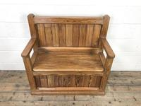 Rustic Pitch Pine Settle Bench (3 of 9)