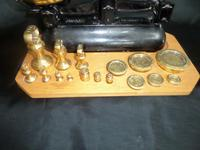Avery Scales with Variety of Brass Weights on Especially Made Board (6 of 6)