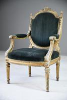 Giltwood & Gesso Fauteuil in Louis XVI Style (2 of 12)