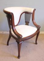Antique Mahogany Occasional Armchair (3 of 7)