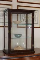 Antique Vintage Mahogany & Glass Display Cabinet with glass shelves (7 of 7)