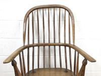 Antique Stick & Hoop Back Armchair (3 of 10)