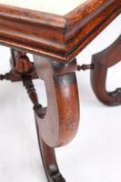 Antique Victorian Walnut Framed Stool (9 of 9)
