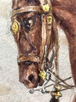 Military Watercolour Prince of Wales Own 10th Royal Hussars Guard on Horseback by Henry Martens c.1850 (19 of 53)