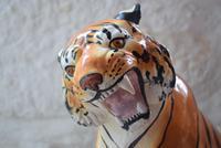 Large Mid-Century Italian Ceramic Tiger (7 of 10)