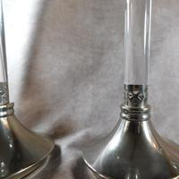 Pair of Silver Plate & Glass Candlesticks (6 of 7)
