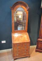 Small Antique Burr Walnut Bureau Bookcase (3 of 12)