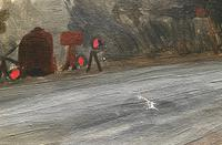 Original Oil on Canvas 'Roadworks Hampstead, Aug 1947 by Ann Spalding (4 of 4)