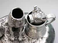 Victorian Novelty Silver Figural Terrier Dog Table Lighter,  by James Barclay Hennell, London, 1881 (13 of 17)
