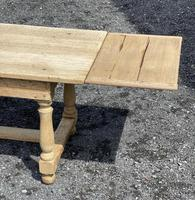 Large Bleached Oak Farmhouse Dining Table with Extensions & Storage (28 of 35)