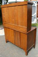1920s Large Oak Carved Buffet with Display Cupboards (7 of 7)