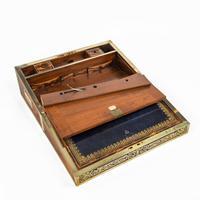 Superb William IV Brass Inlaid Kingwood Writing Box by Edwards (11 of 17)