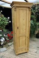Gorgeous Old Stripped Pine Cupboard / Cabinet / Wardrobe - Hall / Linen / Larder (2 of 11)