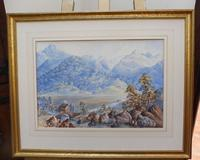 Watercolour The Glen Monogrammed A M 1863 (8 of 12)